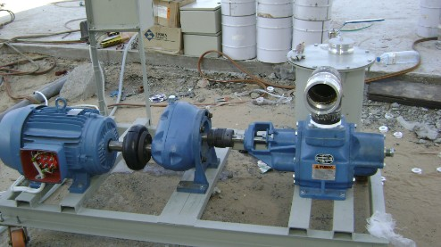 Flow tek ajman flow meter gear pump diesel supply for Motor and pump coupling